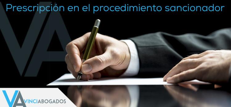 PRESCRIPCIÓN EN EL PROCEDIMIENTO SANCIONADOR
